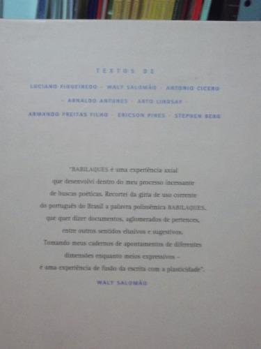 livro - babilaques alguns cristais clivados - waly salomão
