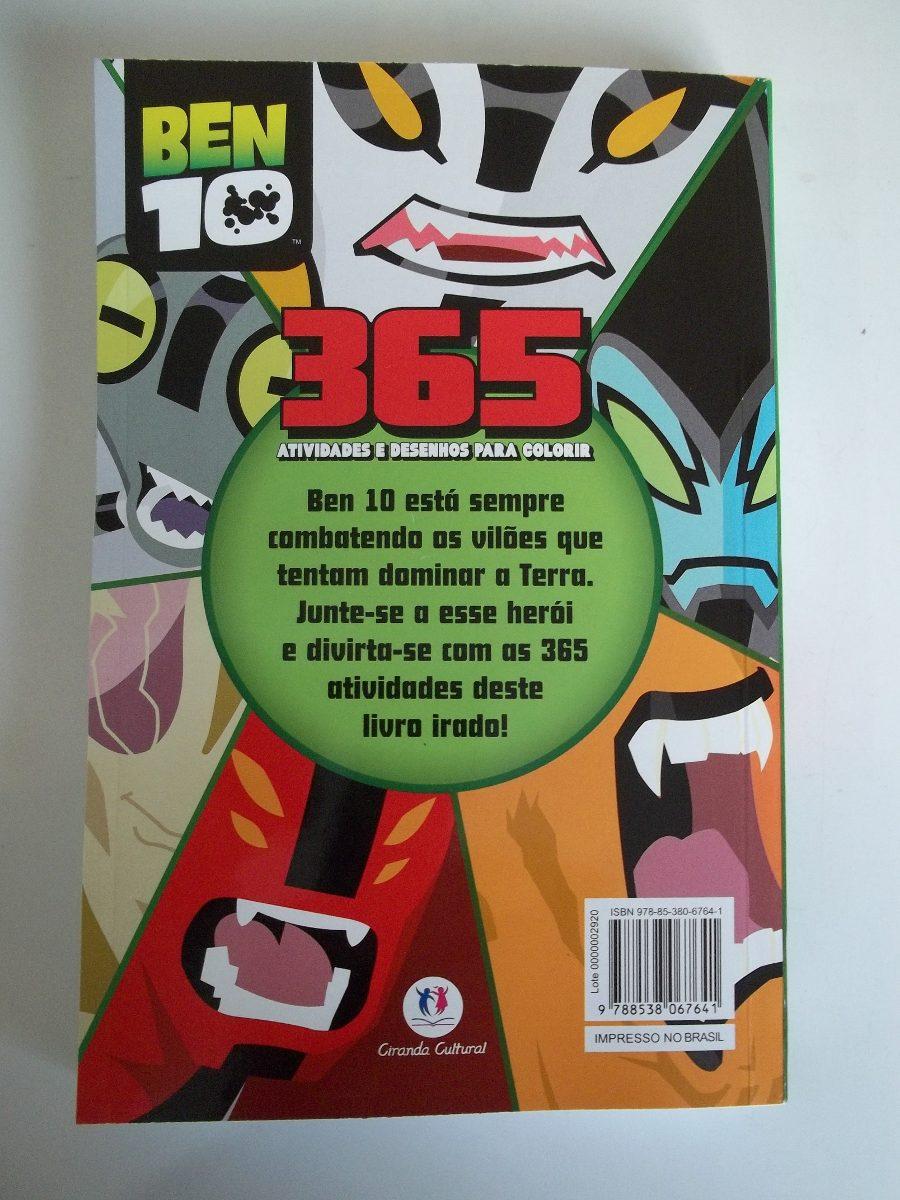 Livro Ben 10 365 Desenhos Para Colorir Novo R 35 00