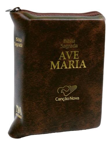 livro bíblia ave maria de bolso com zípper