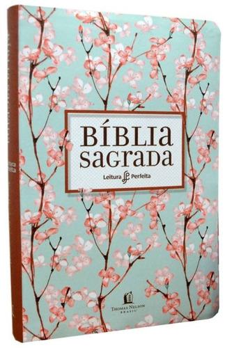 livro bíblia nvi leitura perfeita - capa cerejeira