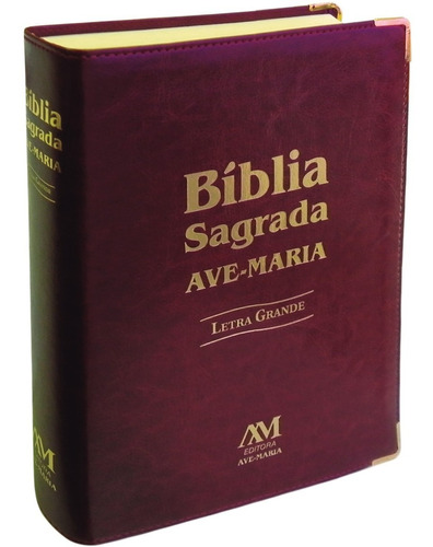livro bíblia sagrada ave maria - letra grande