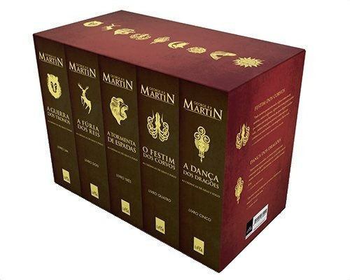 livro - box as crônicas de gelo e fogo (5 volumes)