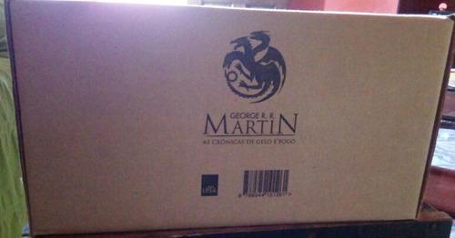 livro - box crônicas de gelo e fogo - edição de luxo - geor