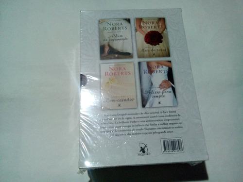 livro box quarteto de noivas nora roberts lacrado
