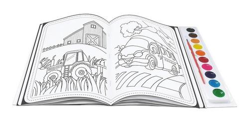 livro brincando com aquarela carros