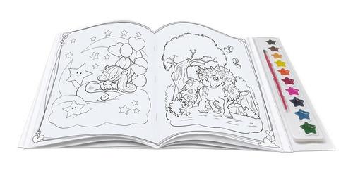 livro brincando com aquarela unicórnios