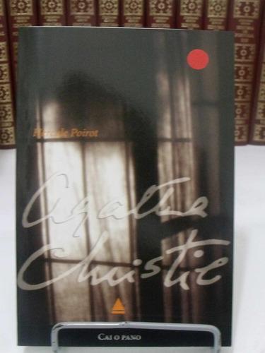 livro -cai o pano - agatha christie