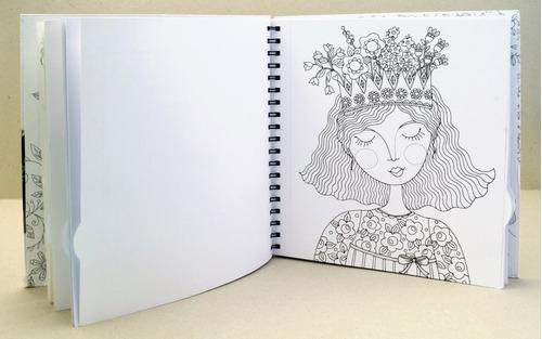 livro chameleon art garden para ilustrar e colorir degrades
