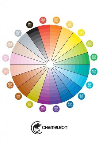 livro chameleon p/ colorir degrades art garden +2 cores *esc