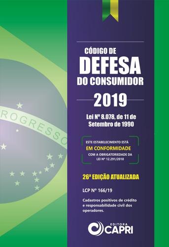 Livro Código De Defesa Do Consumidor 2019 + Placa Adesiva