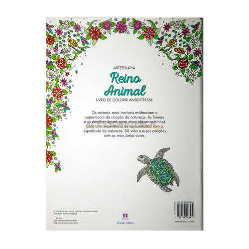 livro colorir adulto - reino animal