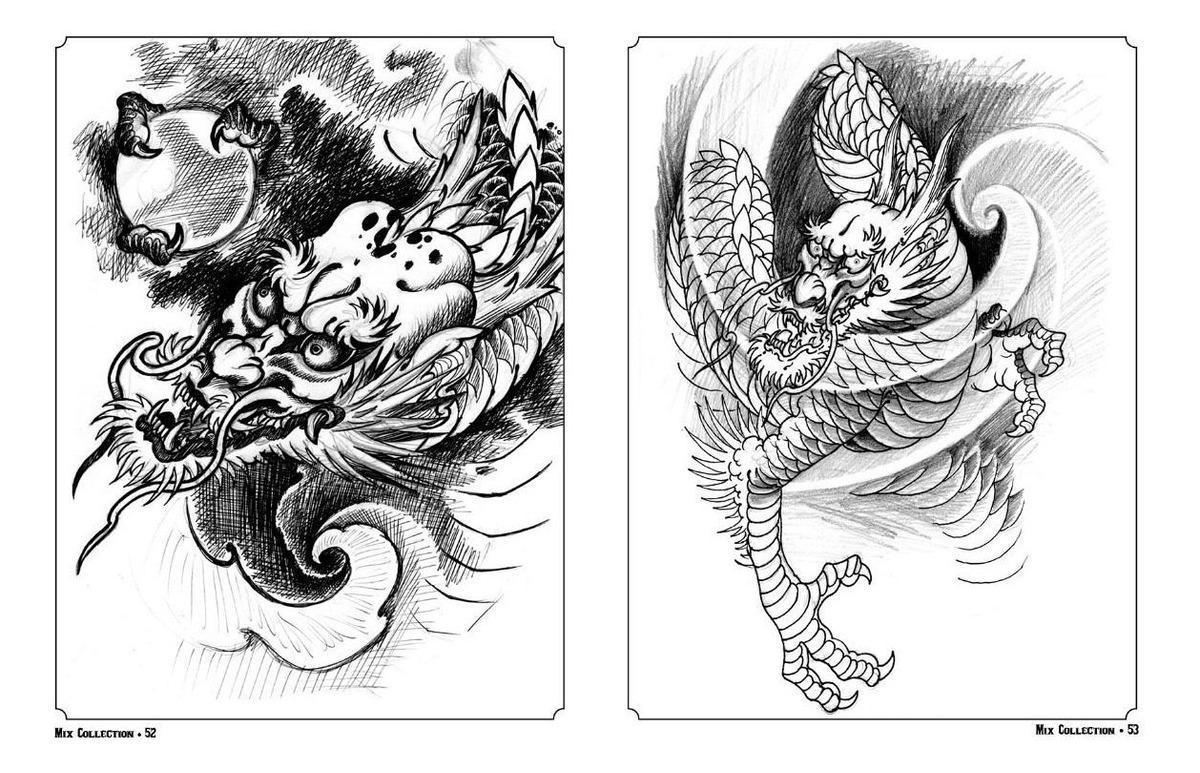 Livro Com Desenhos Orientais Para Tattoo 100 Paginas R 69 90