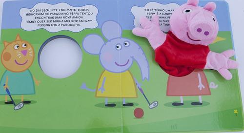 livro com fantoche peppa pig - amigas para sempre lacrado!
