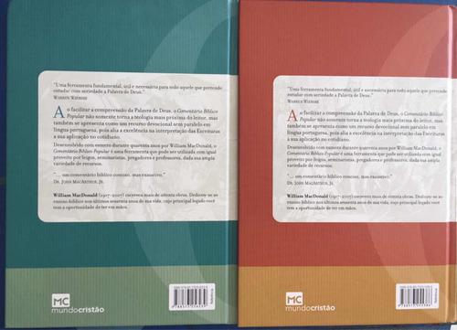 livro comentário bíblico popular - antigo e novo testamento