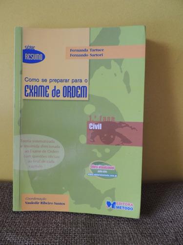 livro como se preparar para o exame de ordem civil tartuce e