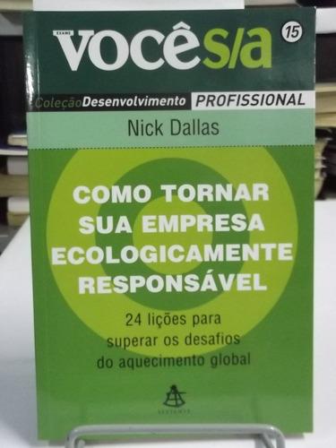 livro - como tornar sua empresa ecologicamente responsavel