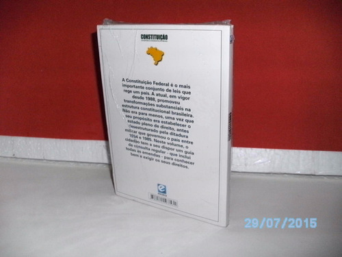 livro constituição república fed brasil-  nº48 2006 lacrado!