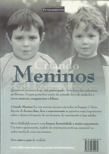 livro criando meninos steve biddulph ano 2002