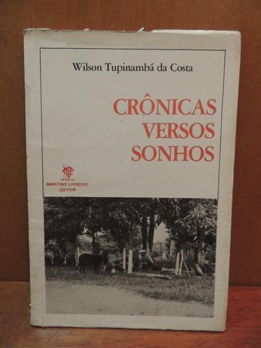 livro crônicas versos sonhos wilson tupinambá da costa