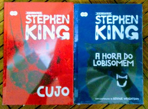 livro cujo + a hora do lobisomem - capa dura - stephen king