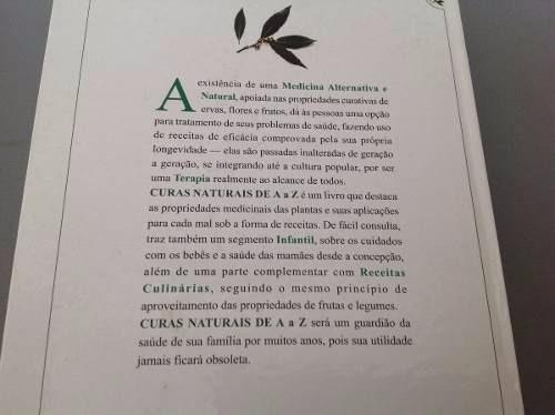 7193ac859a67a Livro Curas Naturais De A A Z - R  69