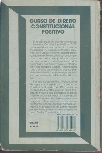 livro curso de direito constitucional positivo - josé silva