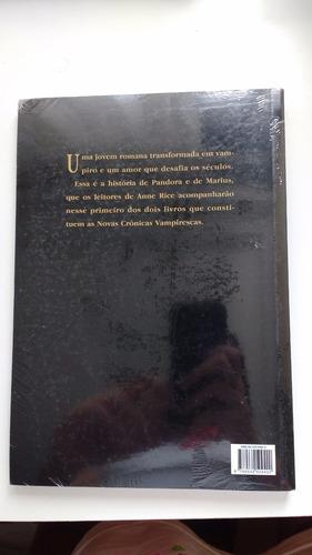 livro de anne rice - pandora (as novas crônicas vampirescas)