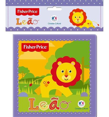 livro de banho - leão - fisher-price