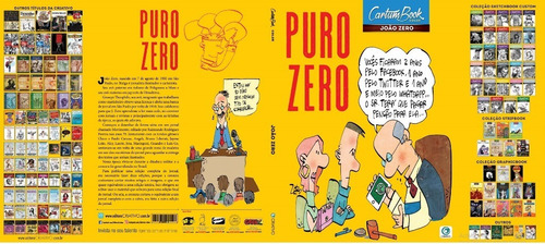 livro de cartuns humor puro zero de joão zero 48 páginas cor