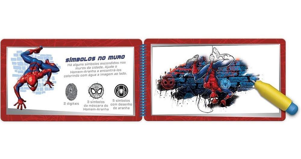 Livro De Colorir Aquabook Magico Homem Aranha Pinta Com Agua R