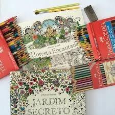 livro de colorir floresta encantada