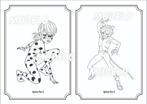 Livro De Colorir Lady Bug E Cat Noir R 2 00 Em Mercado Livre