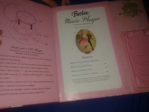 livro de histórias barbie músic player
