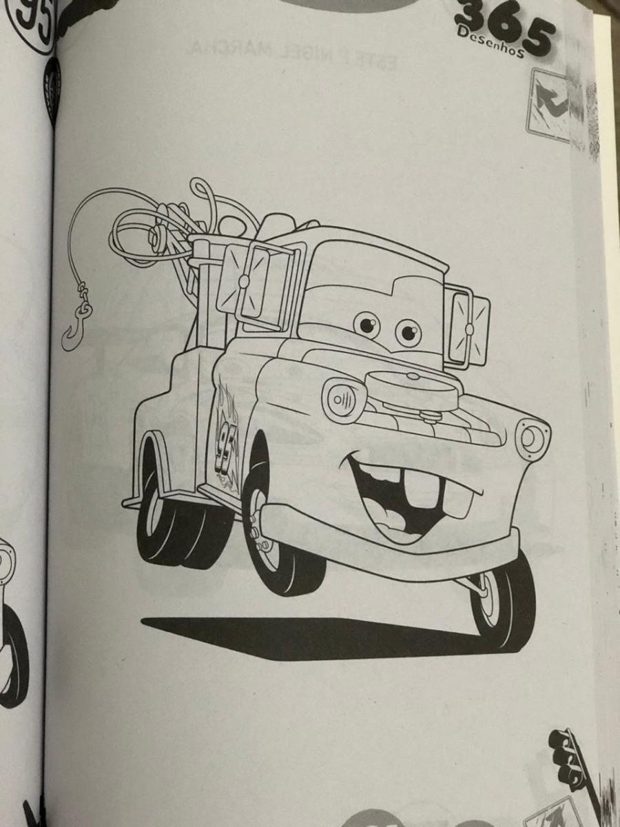 Livro De Pintar Personagens Disney Com 365 Desenhos Colorir R