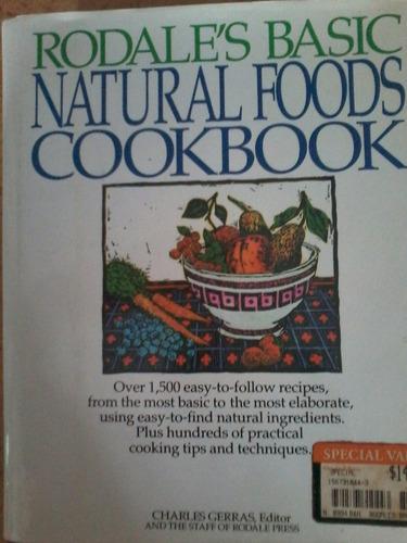 livro de receitas naturais em inglês rodale's.