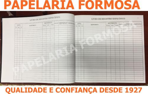 livro de registro específico ( psicotrópico ) 200 fls