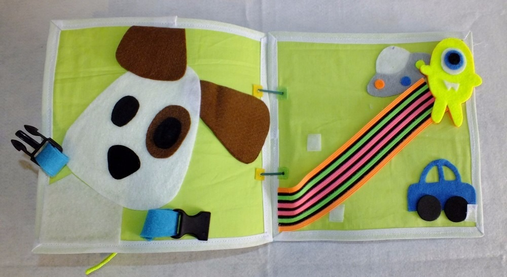 Livro De Tecido Interativo Nina Brinquedos Educativos - R