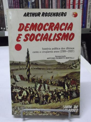 livro democracia e socialismo - arthur rosenberg