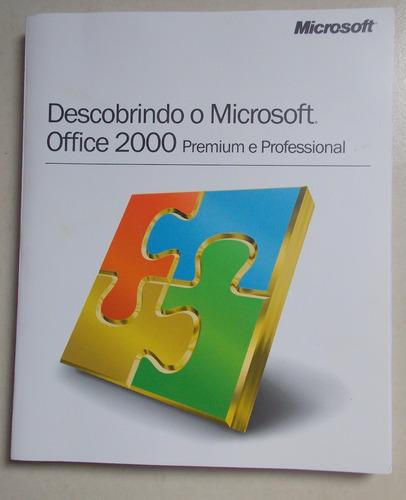 livro descobrindo o  office 2000 premium e profissional