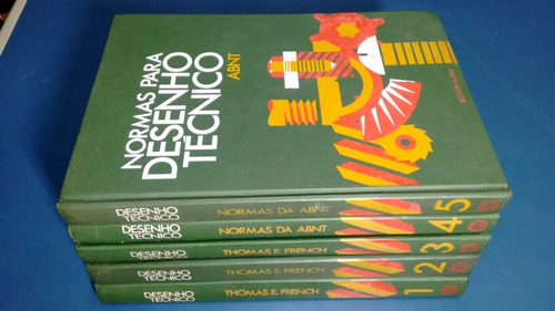 livro desenho técnico  coleção 5 volumes  editora globo
