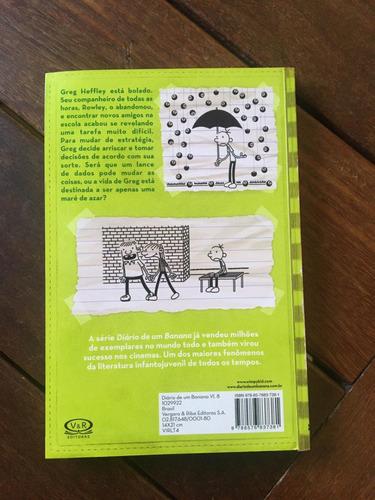livro diário de um banana - maré de azar