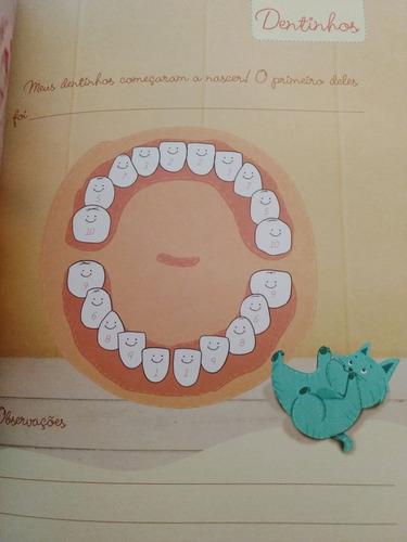 livro diário do bebê gestante presente chá menina rosa