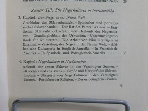 livro - die negerkulturen in der neuen welt arthur ramos