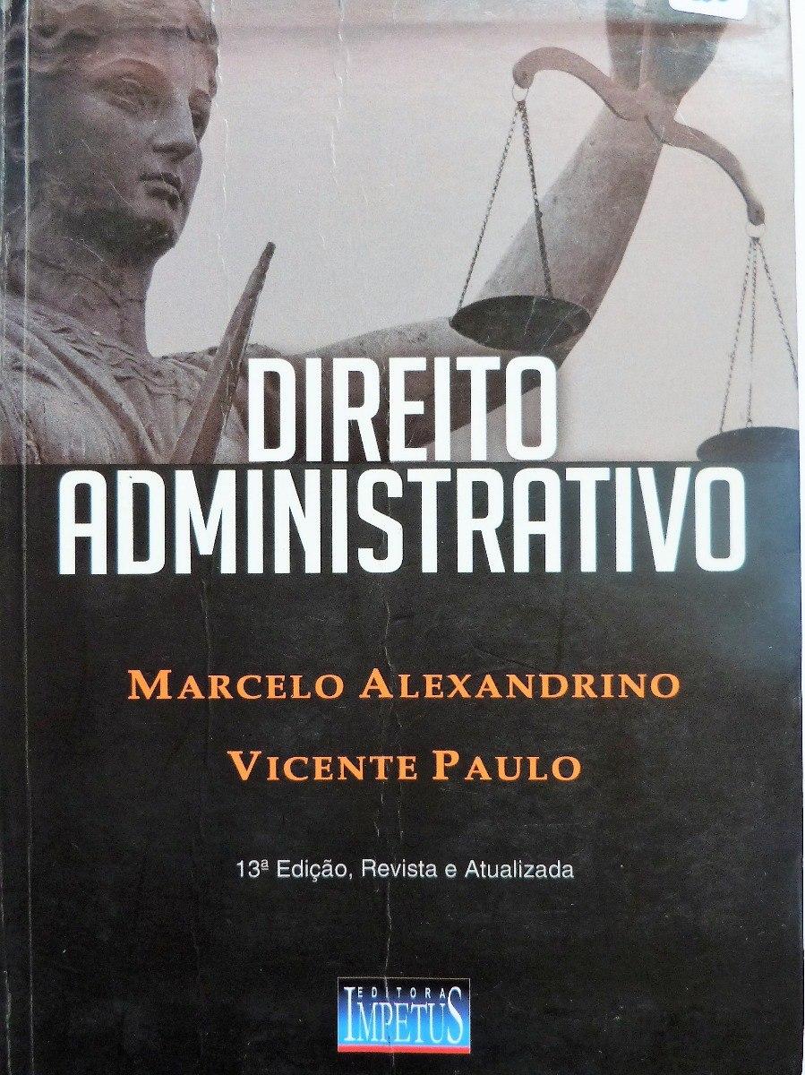 livro direito administrativo marcelo alexandrino