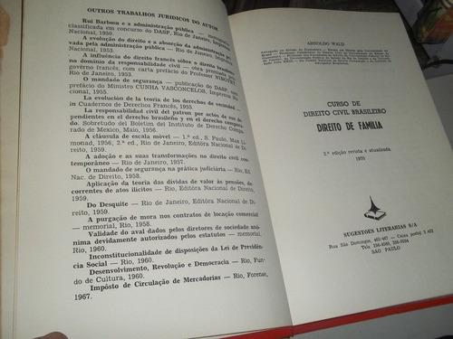 livro  direito de familia  arnoldo wald  1970