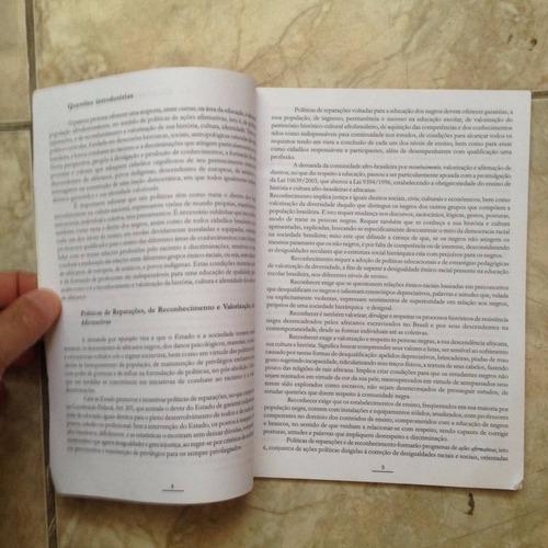 livro diretrizes curriculares para educação afro-brasileira