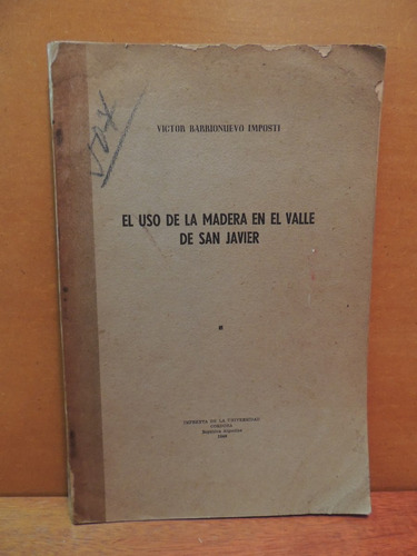 livro el uso de la madera en el valle de san javier victor