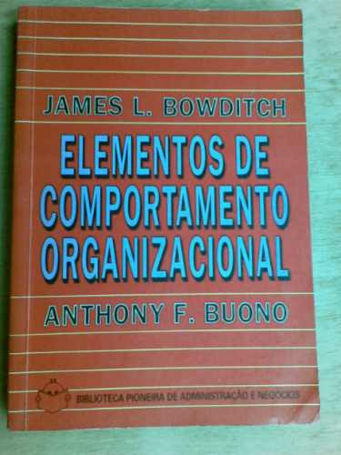 livro - elementos de comportamento organizacional -