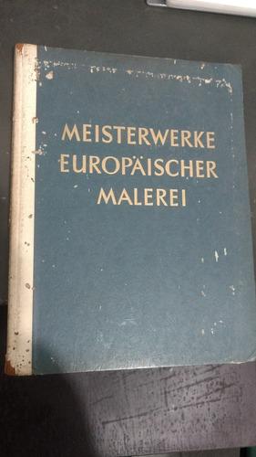 livro em alemão sobre artes meisterwerke 1953 antigo e raro