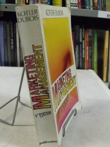 livro em francês - marketing management - kotler/ dubois